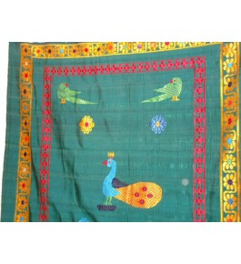 Best Handloom made Bhavani Jamakkalam Carpets 8 x 20 ft on Designer Green Base