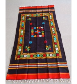 Best Handloom Made Bhavani Jamakkalam Carpets 08x20 ft on Deep Violet Base
