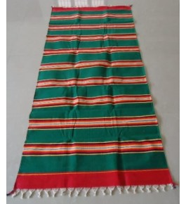 Best Handloom made Bhavani Jamakkalam Fast Color Cotton Carpet on Green Base 10 x 20 ft