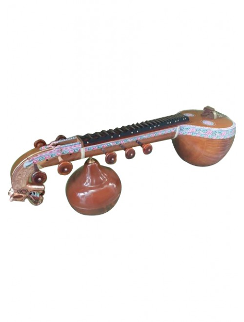 Traditional Handmade Joint Polish Thanjavur Veena For Classical Music Lovers