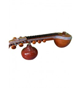Traditional Handmade Ekanda Thanjavur Veena With Floral Designs For Classical Music Lovers