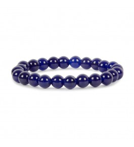 Satyamani Natural Blue Onyx Healing Beads Bracelet For Self Control