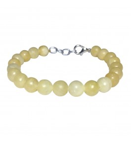 Satyamani Natural Calcite Beads Bracelet with Hook