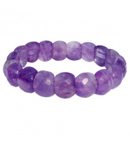 Satyamani Amethyst Faceted Cabochon Bracelet