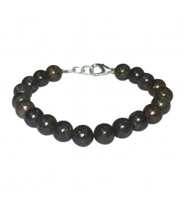 Satyamani Natural Bronzite Beads Bracelet with Hook