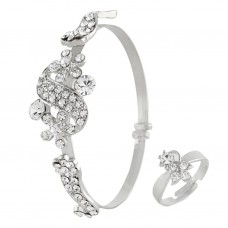 Satyamani Austrian Crystal Studded Bracelet Art For Women