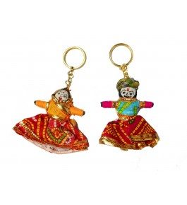 Handmade Colorful Beautiful Kathputli Keychain By Aakash Self Help Group