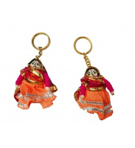 Handmade Colorful Kathputli Keychain By Aakash Self Help Group