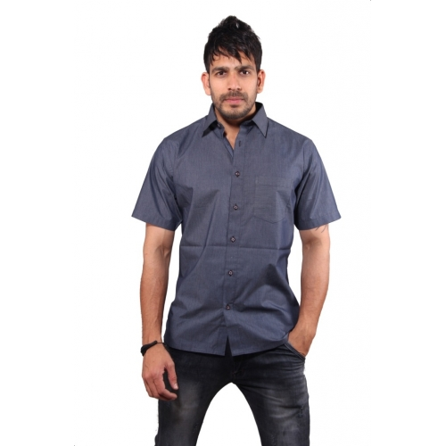 Favio Casual Cotton Solid Half Sleeve Men's Shirt
