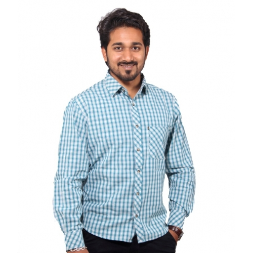 Favio Casual Cotton Checkered Men's Shirt