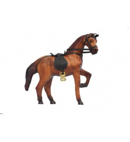 Leather Toy Of Indore Horse Sculpture By Shareef Arts