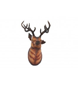 Indore Leather Toy of Deer Head Sculpture for Wall Decor