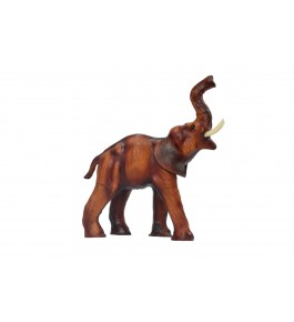 Leather Toy Of Indore Elephant Sculpture By Shareef Arts