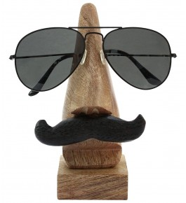 Saharanpur Wooden Spectacle holder With Black mustache