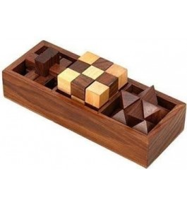 Saharanpur Wooden 3D Puzzle 3 in 1 For Playing