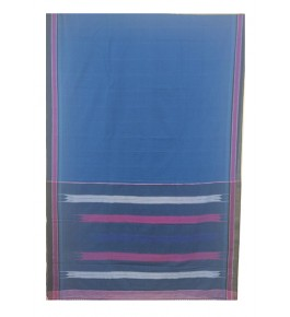 Beautiful Cobalt Blue Colour  Tope Teni Ilkal Saree with Border for Women