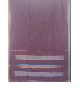 Beautiful Maroon Colour Tope Teni Ilkal Saree with Border for Women