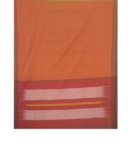 Beautiful Orange Colour  Tope Teni Ilkal Saree with Border for Women