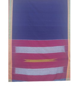 Beautiful Purple & Red Colour Combination Tope Teni Ilkal Saree with Border for Women