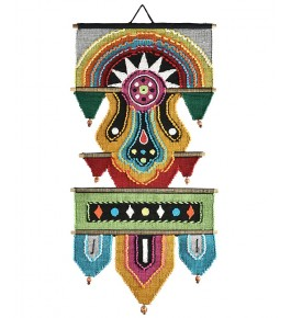 Bright Multicolor Cotton Tapestry Solapur Wall Hanging
