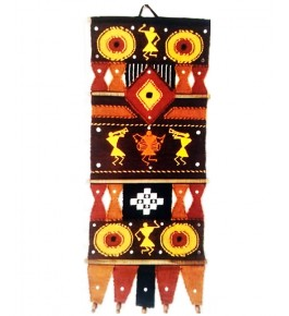Attractive Yellow & Black Color Wall Hanging Of Solapur