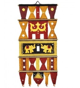 Special Art Work Yellow Solapur Wall Hanging