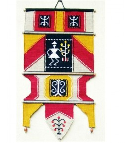 Cotton Tapestry Work Multicolor Solapur Wall Hanging