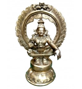 Antique Piece of Swamimalai Bronze Icons Sitting South Lord