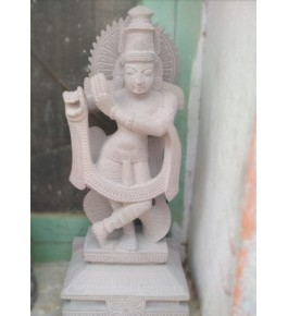 Traditional Artwork of Durgi Stone Carvings Lord Krishna Statue for Home Decor