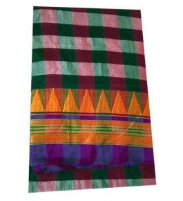 Ilkal Saree on Check Pattern with Attached Blouse for Women