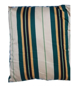 Cannanore Home Furnishings Handloom Screen Printed Dark Green Lined Cushion Cover  for Home Decor