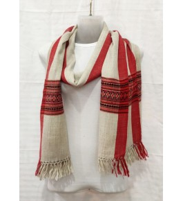 Elegant Handloom Off White Colour Warming Kullu Shawl Of Himachal Pradesh
