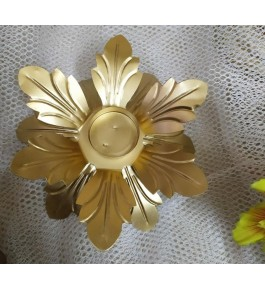 Authentic Floral Design Of Moradabad Metal Handicraft Diya Stand For Diwali Decoration