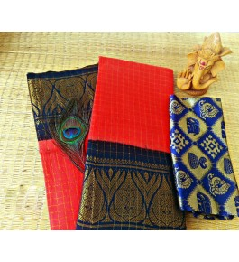 Cotton Narayanpet Handloom Sarees with Heavy Border Work for Women