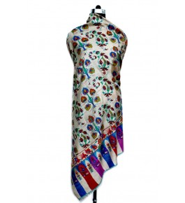 Handwoven & Crafted Pashmina Sozni Shawl For Women By United Art & Craft