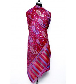 Hand Woven & Crafted Pashmina Kani Shawl For Women By United Art & Craft