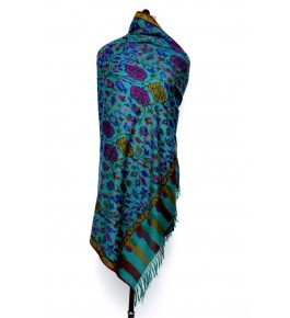 Kani Shawl Hand Woven & Crafted Pashmina For Women By United Art & Craft