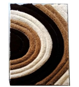 Beautiful Brown Colour Pattern on Handmade Carpet of Bhadohi 3/5 Feet for Home Decor
