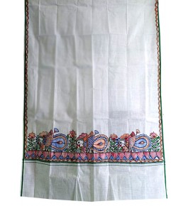 Men's Ethnic and Traditional Madhubani Hand Painted Cotton Gamcha