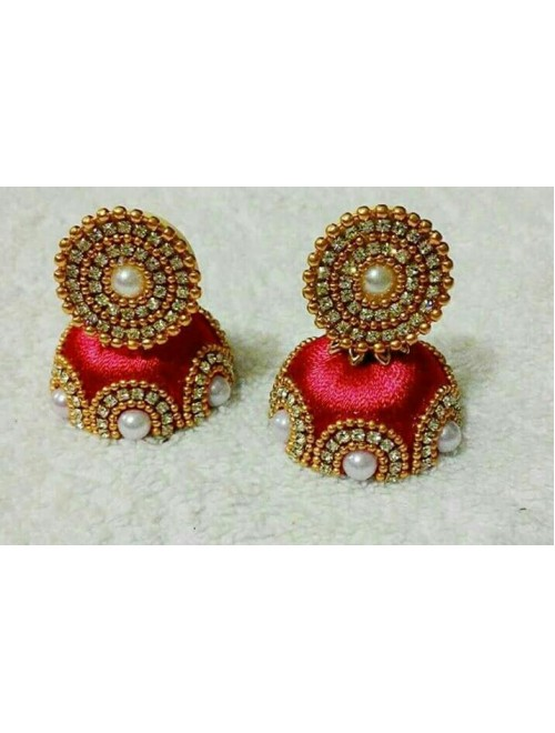WOMEN'S THREAD SILK JHUMKA