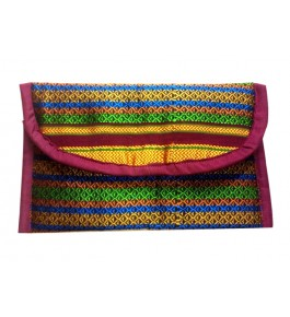 Beautful Handmade Ilakl Embroidery Clutch Purse in Multicolor for Women