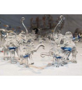 Elegant Handicraft Firozabad Glass Craft Beautiful Design Of Peacock Family Pack