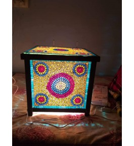Elegant Handicraft Firozabad Glass Craft Beautiful Design Of Table Top
