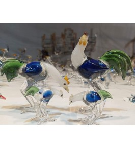Elegant Handicraft Firozabad Glasswork Craft Beautiful Design Of Hen Family