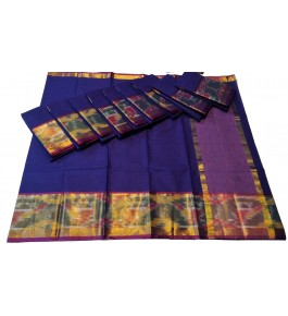 Pochampalli Ikat Silk  Violet Saree By Vishva Saree House Vijju