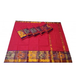 Pochampalli Ikat Silk  Pink Saree By Vishva Saree House Vijju