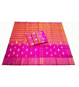 Uppada Jamdani Tissue Lines Buta Silk Saree For Women By Vishva Sarees House Vijju