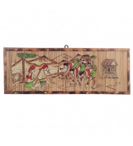 Silpakarman Bamboo Wall Hanging-Farming - Brown By Tad Udyog Private Limited