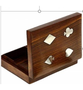 Handmade Wooden Playing Cards Storage Box By Star India Craft