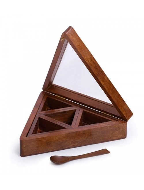 Handmade Wooden Multi Utility Triangle Box By Star India Craft